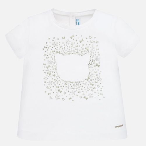 Boys Mayoral Short Sleeve T Shirt 105 - White