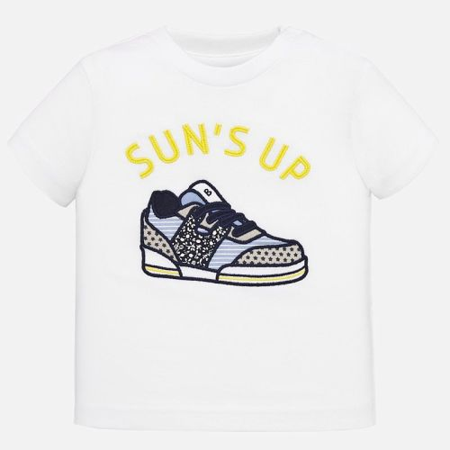 Boys Mayoral Short Sleeve T Shirt 1040 - White