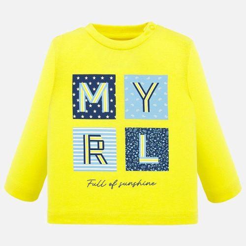 Boys Mayoral Long Sleeve T Shirt 1053 - Yellow