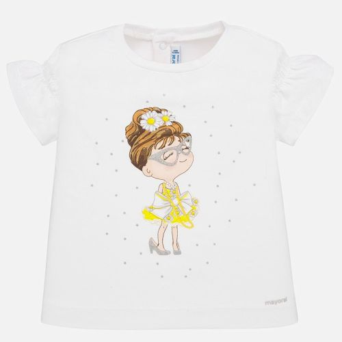Girls Mayoral Short Sleeve T Shirt 1056