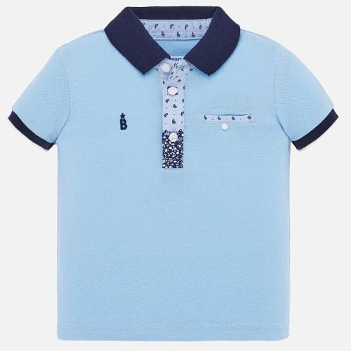 Boys Mayoral Polo Shirt 1146 - Sky