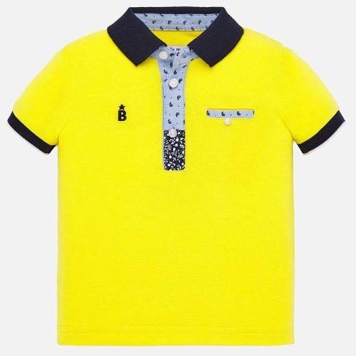 Boys Mayoral Polo Shirt 1146 - Yellow