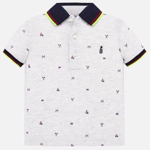 Boys Mayoral Polo Shirt 1153 - Steam