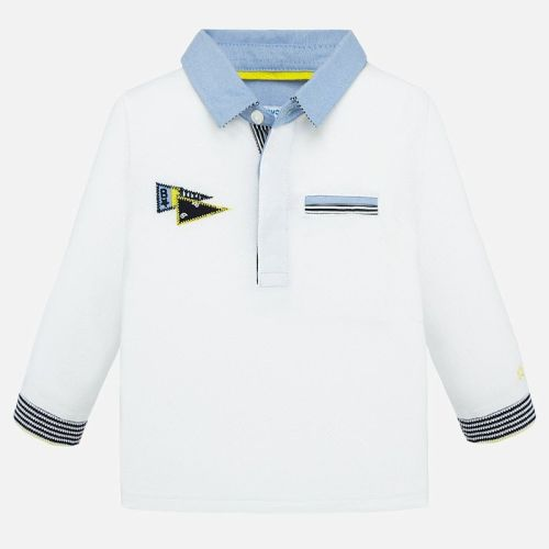 Boys Mayoral Polo Shirt 1154 - White