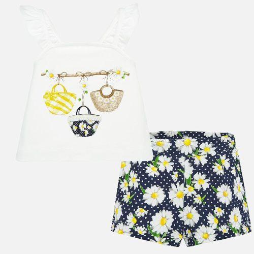 Girls Mayoral Top and Shorts Set 1207