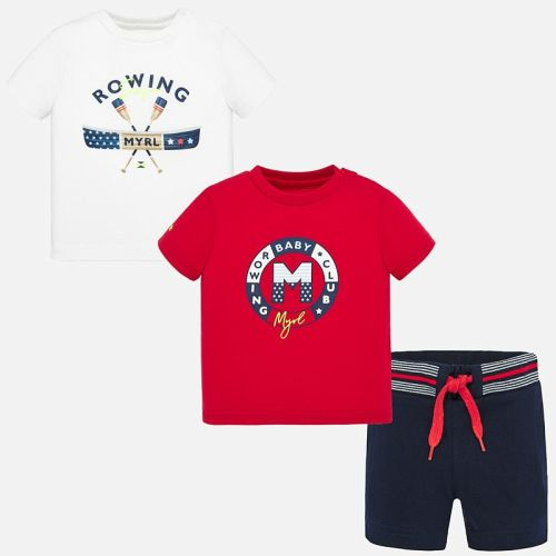 Boys Mayoral Top and Shorts Set 1692 - Hibiscus (includes 2 T Shirts)