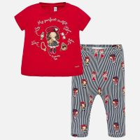 Girls Mayoral Top and Leggings Set 1716 - Red