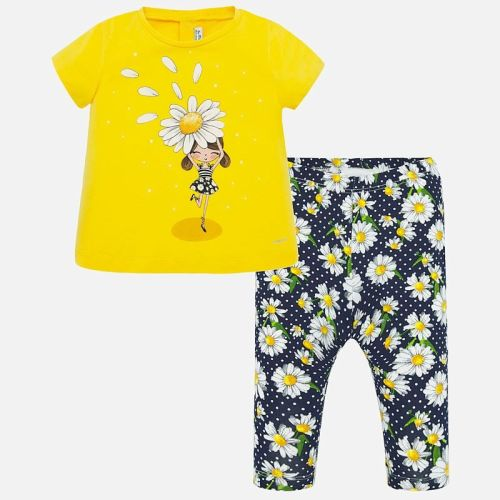 Girls Mayoral Top and Leggings Set 1716 - Yellow