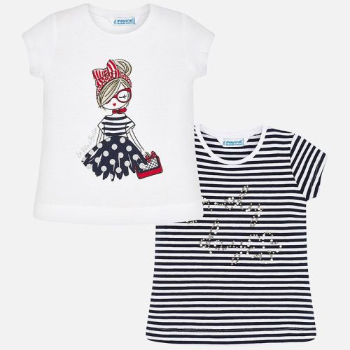 Girls Mayoral Short Sleeve T Shirt 3004 - 2 Pack