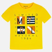 Boys Mayoral Short Sleeve T Shirt 3056 - Canary