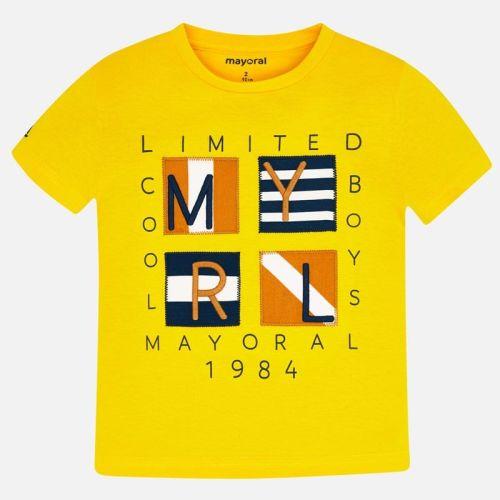 Boys Mayoral Short Sleeve T Shirt 3056 - Canary