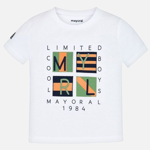 Boys Mayoral Short Sleeve T Shirt 3056 - White