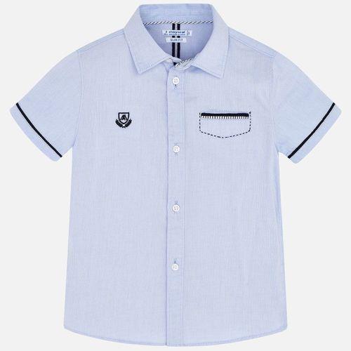 Boys Mayoral Short Sleeve Shirt 3163 - Light Blue