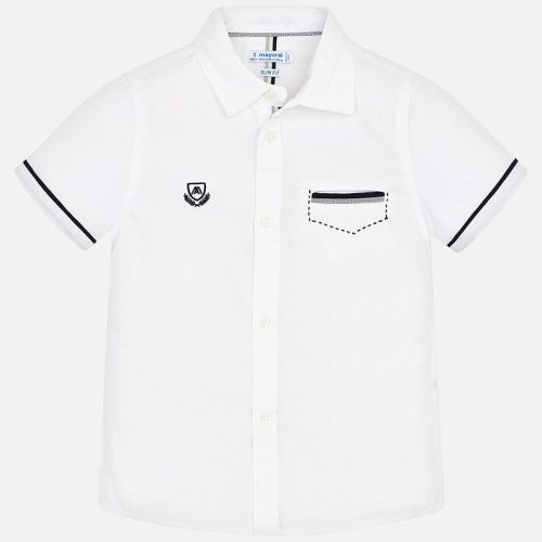 Boys Mayoral Short Sleeve Shirt 3163 - White