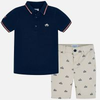 Boys Mayoral Polo Shirt and Shorts Set 3270 - Navy