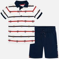 Boys Mayoral Polo Shirt and Shorts Set 3619