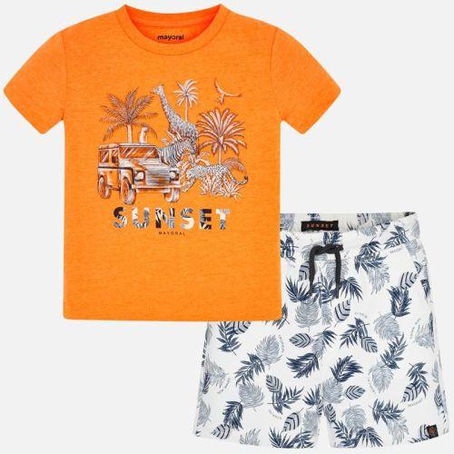 Boys Mayoral Polo Shirt and Shorts Set 3625