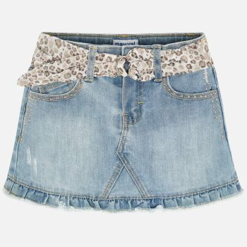 Girls Mayoral Skirt 3903 - Bleached
