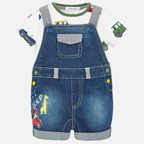 Boys Mayoral Dungaree and T Shirt 1680