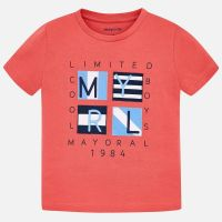 Boys Mayoral Short Sleeve T Shirt 3056 - Coral