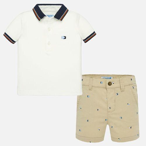 Boys Mayoral Polo Shirt and Shorts Set 1296