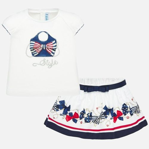 Girls Mayoral Top and Skirt Set 1948