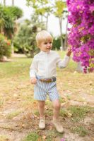 Boys Dolce Petit Blue and White Set 2243 with Matching Belt