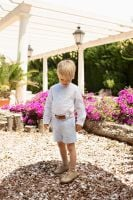Boys Dolce Petit Blue and White Set 2250 with Matching Belt