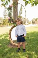 Boys Dolce Petit Navy and White Set 2239 - Belt not included