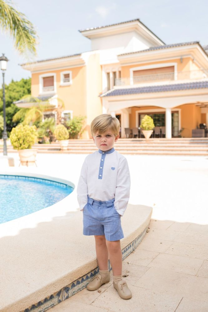 PRE ORDER SS20 Boys Dolce Petit White and Blue Set 2259