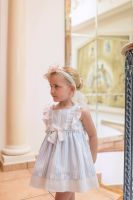 Girls Dolce Petit Blue and White Dress 2291