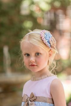 Girls Dolce Petit Blue, Pink and Camel Headpiece 2252DP