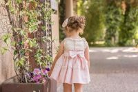 Girls Dolce Petit Powder Pink and Cream Dress 2265
