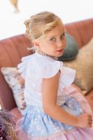 Girls Dolce Petit Blue, Pink and Camel Skirt Set 2252