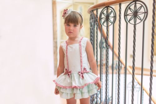 PRE ORDER SS20 Girls Dolce Petit Mint Dress 2246
