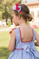 Girls Dolce Petit Red, White and Blue Headpiece 2259D