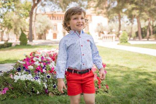 PRE ORDER SS20 Boys Dolce Petit Red, White and Blue Set 2236 with Matching