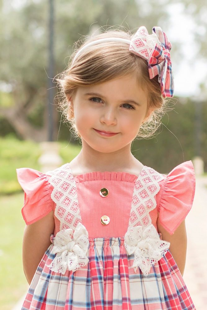PRE ORDER SS20 Girls Dolce Petit Coral Headpiece 2234DP