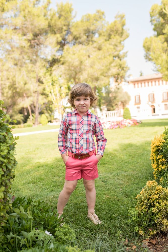 PRE ORDER SS20 Boys Dolce Petit Coral Set 2234 with Matching Belt