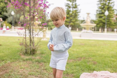 PRE ORDER SS20 Boys Dolce Petit Blue and White Set 2226