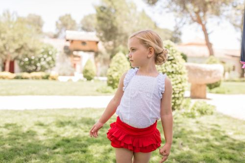 PRE ORDER SS20 Girls Dolce Petit Red Shorts Set 2215