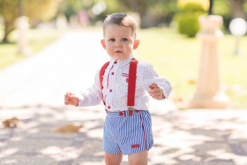 PRE ORDER SS20 Boys Dolce Petit Red, White and Blue Set 2171 with Matching
