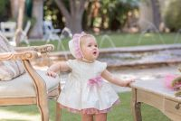 Girls Dolce Petit Powder Pink and Cream Dress and Pants 2164
