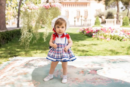 PRE ORDER SS20 Girls Dolce Petit Red, White and Blue Dress and Pants 2160
