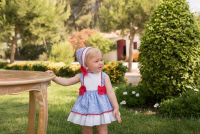 Girls Dolce Petit Red, White and Blue Dress and Pants 2159