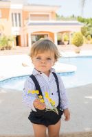Boys Dolce Petit Navy and White Set 2155