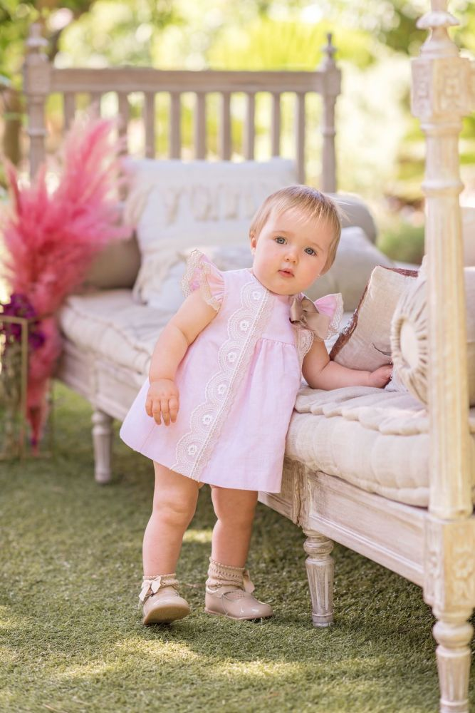 PRE ORDER SS20 Girls Dolce Petit Blue, Pink and Camel Dress and Pants 2153