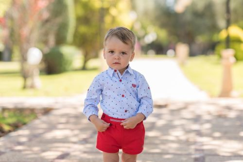 PRE ORDER SS20 Boys Dolce Petit Red, White and Blue Set 2136