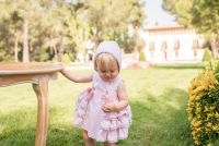 Girls Dolce Petit Powder Pink Dress and Pants 2111