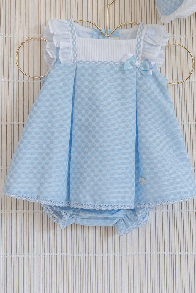 PRE ORDER SS20 Girls Dolce Petit Blue and White Dress and Pants 2017